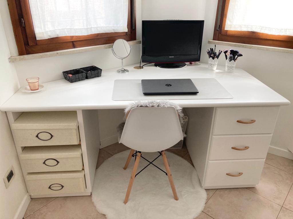 scrivania legno su misura