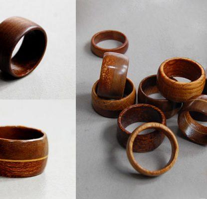 Anelli in legno fatti in casa, come fare